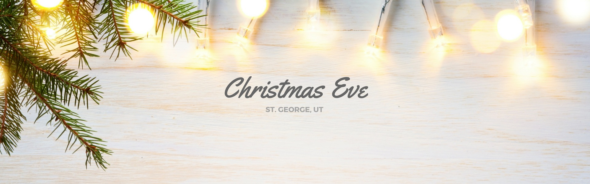 Christmas Eve in St. George