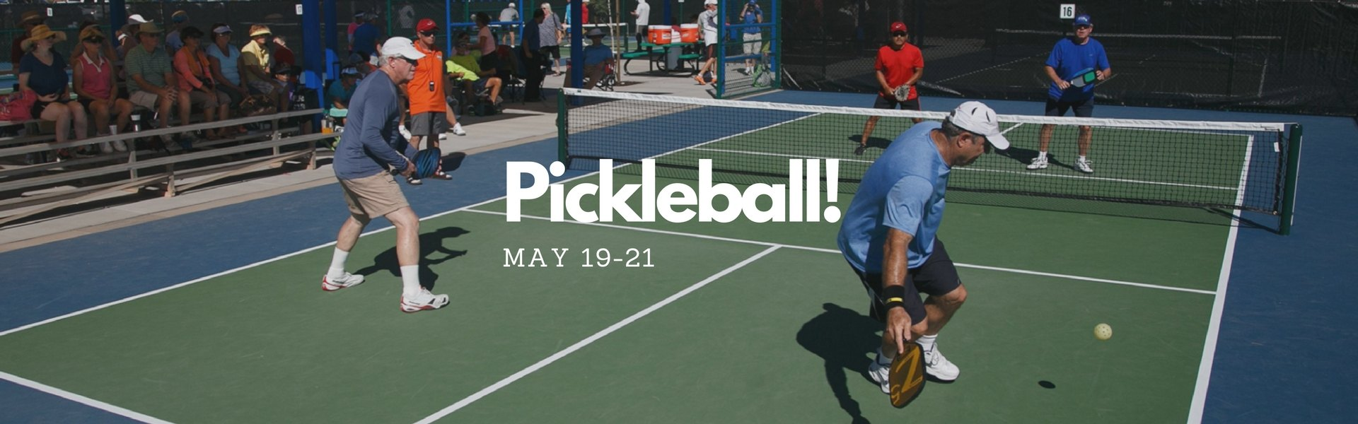 men playing pickleball
